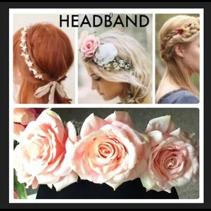 Light pink nude colors floral headband 🌸